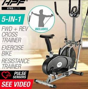 5in1 Elliptical Cross Trainer & Exercise Bike Equipment Fat Loss Melbourne CBD Melbourne City Preview
