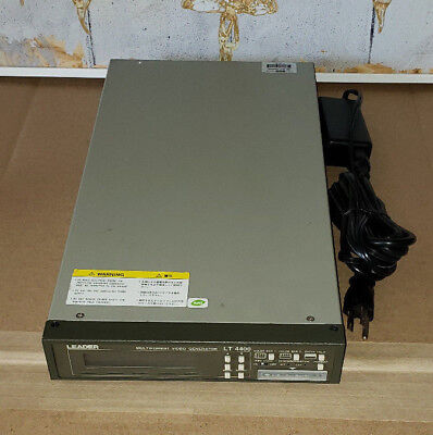 Leader Electronics Lt4400 Multi Format Video Generator Lt 4400 With Power Supply