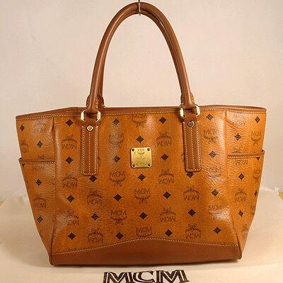 AUTHENTIC MCM Visetos  Shopper Bag +Dust Cover
