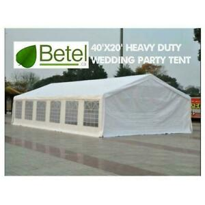 Sale | 40x20 Extra Large Wedding Tent. 20x40 Party Tent Heavy Duty Steel Frame - 20 x 40 - 40 x 20 Tents