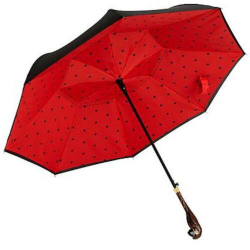 Disney Mary Poppins Returns Inverted Umbrella Parrot HEAD RED POLKA DOT