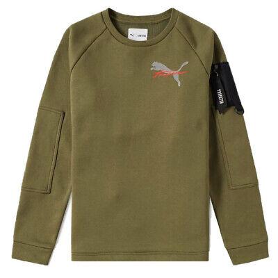 Puma X Trapstar Mens Crew Harness Sweatshirt Jumper Khaki 572581 02