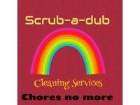 Scrub-A-dub cleaning service.