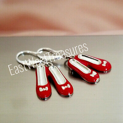 Dorothy Ruby Red slippers Wizard of Oz Jewelry gift earrings for women girls