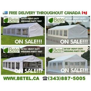 For Sale | 40x20 • 32x20 • 32x16 • 20x20 Heavy Duty Large Wedding Party Canopy Tents | From $589