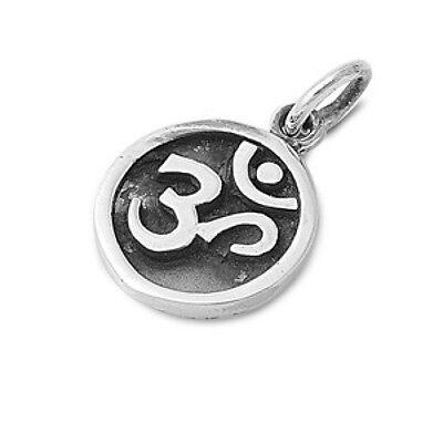 Om Sign Pendant Sterling Silver 925 Hindu Aum Yoga Symbol Jewelry Gift - Hindu Om Sign