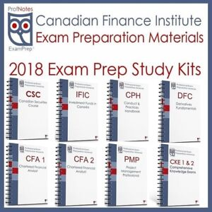 Exam Prep Textbooks CSC CFA IFIC IFC CHRP CKE CPH DFC PMP