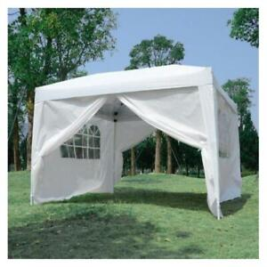 TRENDALS® ALL INCLUSIVE PRICE | 10x10 ft Easy Pop Up Wedding Party Gazebo Tent White SPRING SALE