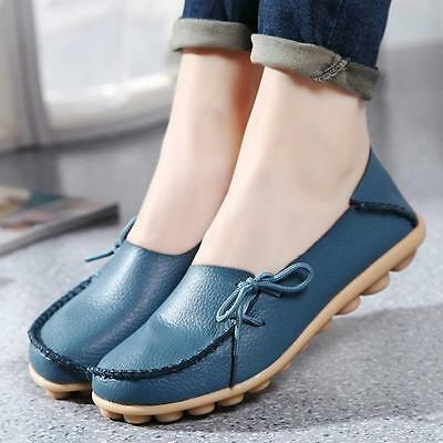 XMAS WOMEN WINTER LEATHER SHOES LOAFERS SOFT LEISURE FLATS FEMALE CASUAL SHOES
