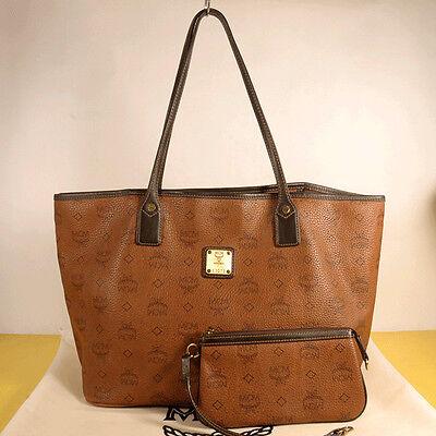 AUTHENTIC MCM Women Visetos  Shopper Bag  + Pouch + Dust Bag.