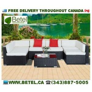 Brand New | Gorgeous Patio Garden Furniture Wicker Outdoor Bistro Sofa Collection | FREE Delivery