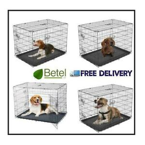 Free Delivery | 2 Door Dog Puppy Crate Cage 30- 48 inches - $49 & Up