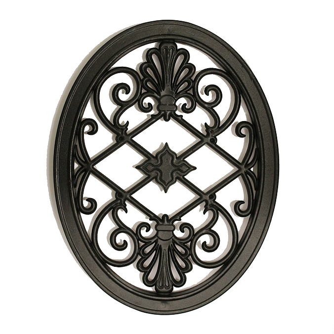 Nuvo Iron Oval Decorative Gate Fence Insert Acw56 Fencing...