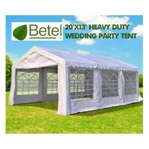 Sale | 20x13 ft Large Wedding Party Event Tent • 13x20 Heavy Duty Steel Tents