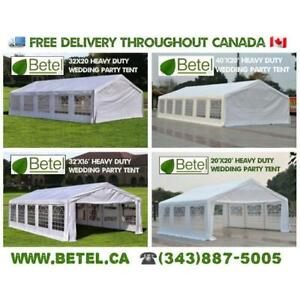 For Sale | 40x20  32x20  32x16  20x20 Heavy Duty Wedding Party Tents | From $699