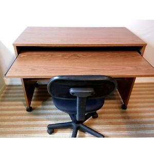 Compact Computer Desk on Casters, Delivered