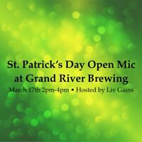 St. Patrick's Day Open Mic at Grand River Brewing Cambridge