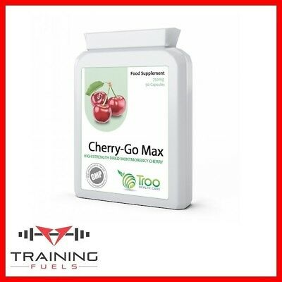 Cherry Go Montmorency Cherries 750mg 90 Capsules High Antioxidants Troo Health