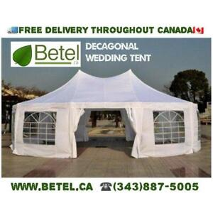 For Sale | 30x20 ft  Large Decagonal Wedding Party Tent • Catering High Peak Marquee Tent