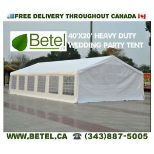 Sale | 40x20 Extra Large Wedding Party Tent. 20x40 Heavy Duty Tent Steel Frame - 20 x 40 - 40 x 20 Tents