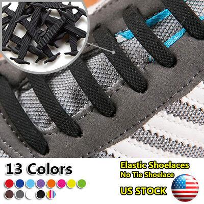 Adults Kids Children Slip On No Tie Shoelaces Lazy Easy Elastic Shoe Laces Us