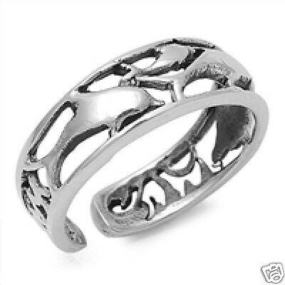 Silver Adjustable Dolphins Toe Ring Sterling Silver 925 Best Price Jewelry Gift