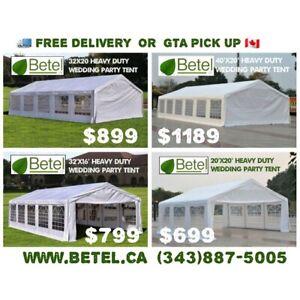 40x20 • 32x20 • 32x16 • 20x20 Heavy Duty Wedding Party Tents