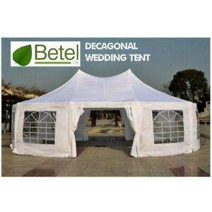 Gorgeous 30 x 20 ft  Large Decagonal Wedding Party Catering High Peak Marquee Tent
