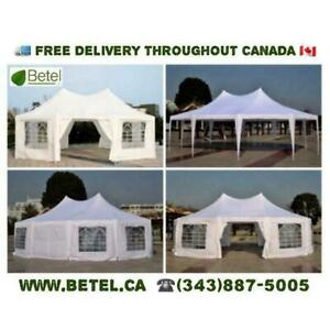 For Sale | 22x16 • 30x20 • Octagonal • Decagonal  Wedding Party Marquee High Peak Large Canopy Tent | From $499
