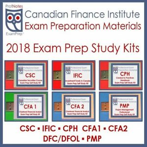 [2018] Exam Prep Textbook CSC-CFA-PMP-IFIC-IFC-PMP-CPH-OREA-CPA