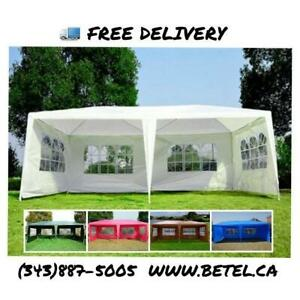 Brand New 10x20 ft Party Canopy Tents • 20x10 ft Party Tent for Sale • From $129