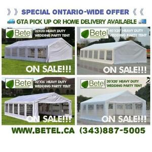 For Sale in GTA | Brand New 40x20 • 32x20 • 32x16 • 20x20 Heavy Duty Large Wedding Party Canopy Tents | From $595