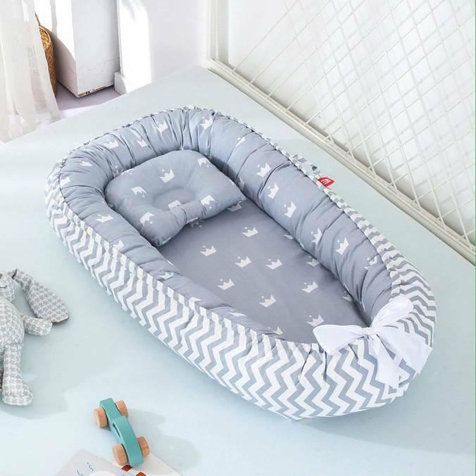 Newborn Safety Portable Bed Crib Lounger Baby Nest Sleeper B