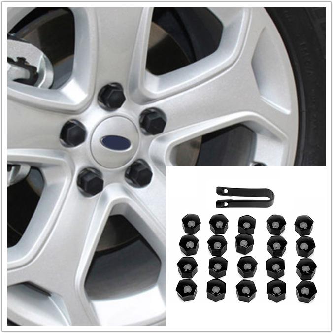20Pcs 17mm Car Wheel Nut Caps Bolt Rims Auto Hub Screw Cover Exterior Nylon