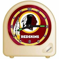 NFL Washington Redskins Desk Clock, 2.75 x 2.75 - New / Sealed