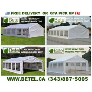 Brand New 32x16 • 32x20 Large Steel Party Canopy Tents for Sale • 16x32 • 20x32 Heavy Duty Steel Tents