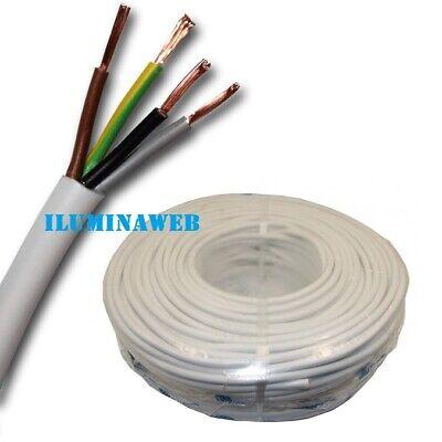 5 Metros Manguera blanca flexible 4x1.5mm2 H05VV-F cable blanco electrico 2500w