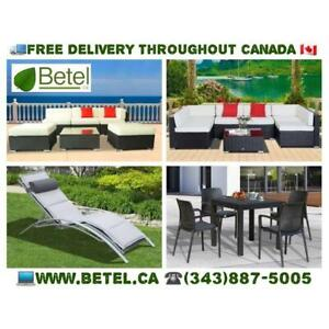 Brand New Patio Furniture Garden Sofa Bistro Furniture Sets & Umbrellas - FREE Delivery - $259 & Up