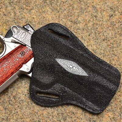 "DeSantis 002BAF9Z0 Colt 1911 Govt Rail 5/"" Speed Scabbard RH Black Belt Holster"
