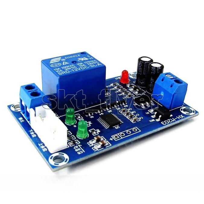 AC/DC 12V Auto Liquid Level Controller Switch Module Water Detection Sensor