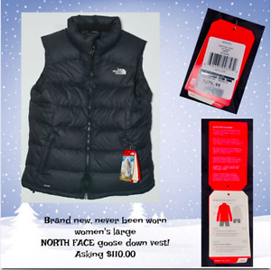North Face Goose Down Winter Vest