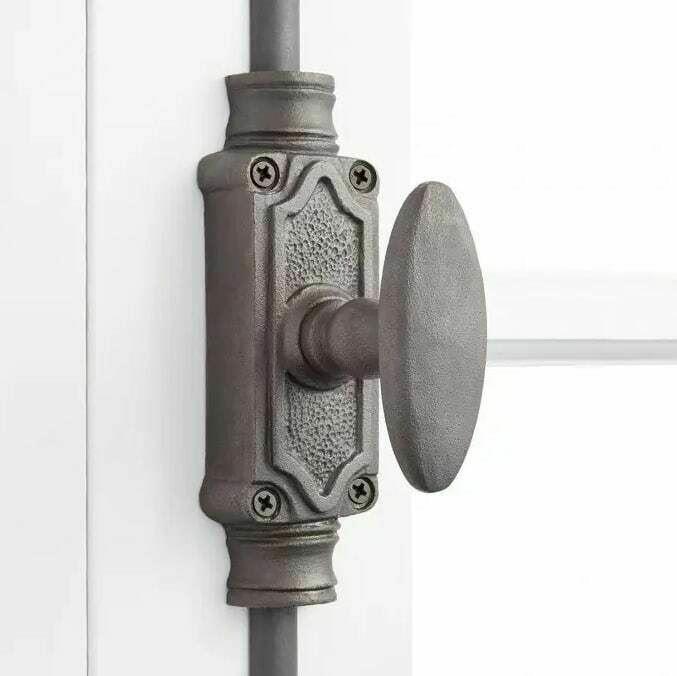STEPNEY IRON DOOR CREMONE BOLT - ANTIQUE IRON