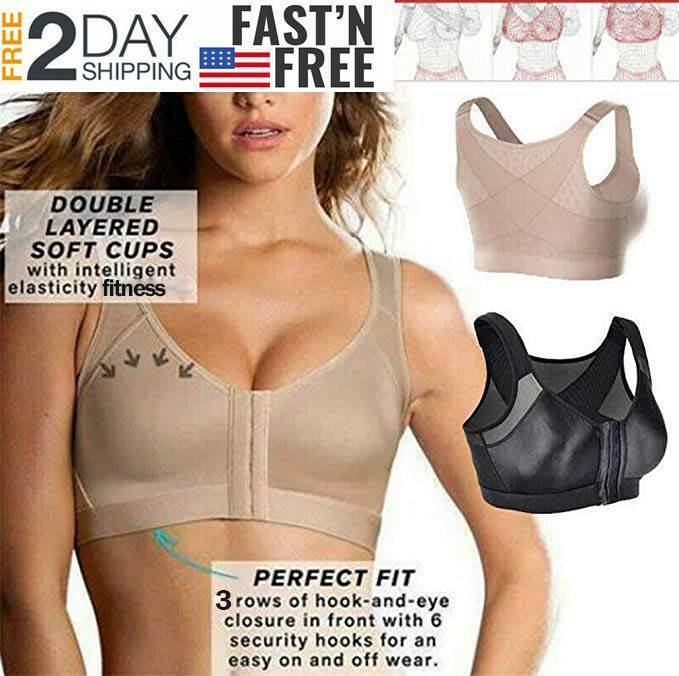 Women Posture Corrector Front Closure Wireless Back Support