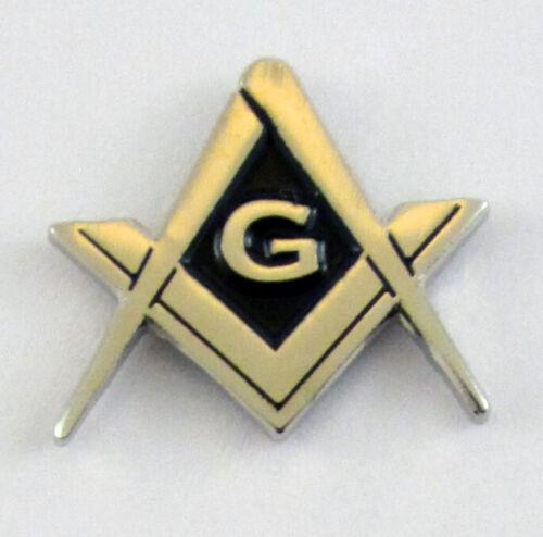 Masonic Silver Tone Square & Compasses Lapel Pin Mason (SCA) Freemason