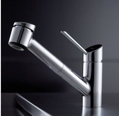 KWC Faucets 10.021.033.000 EDGE Pull Out Kitchen Faucet, (Edge Single Hole)