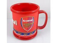 2 X Arsenal Football Club Plastic Cups - Tea Coffee Milk Mug - £8