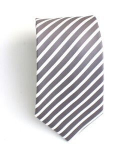 100% Silk New STRIPES HANDMADE Mens Tie -BUY 3 GET 1 FREE-