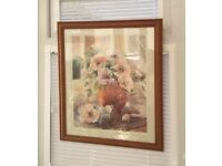 FREE - 2 Nice Pictures Wood Frames Glass Fronts Athena International