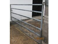 Gate Galvanised Custom Made for ground that slopes upward with moveable bottom section