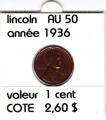 e2 )pieces de 1 cent  1936     lincoln